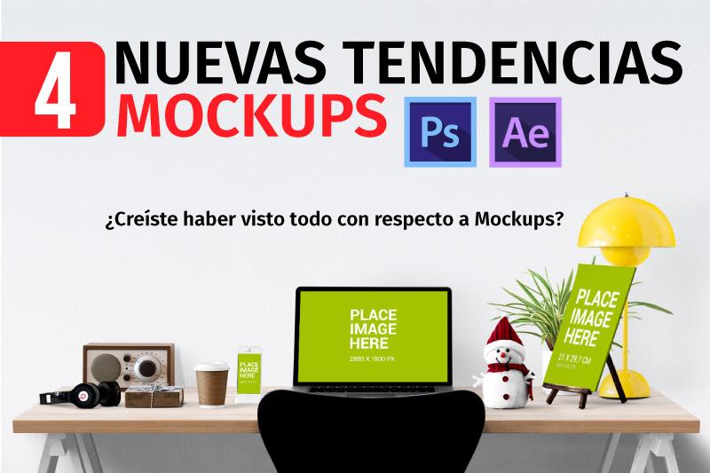 4 Nuevas Tendencias en Mockups PSD en 2015